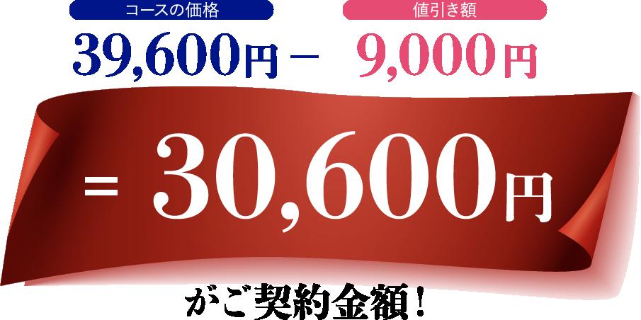 30.600円がご契約金額!
